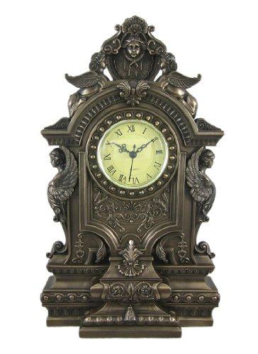 Baroque Style Bronze Finish Mantle Clock Sphinx