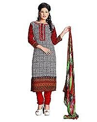ZHot Fashion Women's Printed Un-stitched Dress Material In Cotton Fabric (ZH1011) Multi