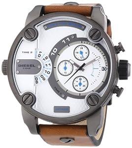 Diesel Herren-Armbanduhr XL Little Daddy Chronograph Quarz Leder DZ7269