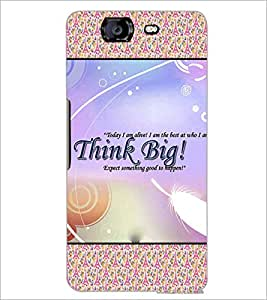PrintDhaba Quote D-4631 Back Case Cover for MICROMAX A350 CANVAS KNIGHT (Multi-Coloured)