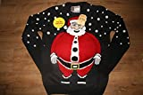 Primark Men's 3D Talking Father Christmas Jumper - UK Size M - 38-40 Inches