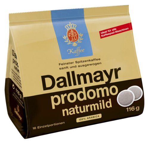 Dallmayr prodomo naturmild, Pack of 5, 5 x 16 Coffee Pods