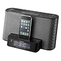 <strong><a href='http://www.it-firstcare.com/view_company.php?from=Sony&pageid=1'>Sony</a></strong> ICFCS10iP Speaker Dock with Alarm Clock and Radio for iPod/iPhone (Black)