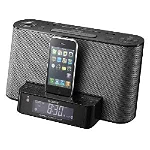 Sony ICFCS10iP Speaker Dock with Alarm Clock and Radio for iPod/iPhone (Black)