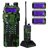 NKTECH UV-5R Plus VHF UHF Tri-Power Hi/Mid/Low 8W 4W 1W Dual Band 136-174/400-520MHz Two Way Radio Transceiver Walkie Talkie and BL-5L 3800mAh 7.4V Li-ion Batteries Accessories Camouflage