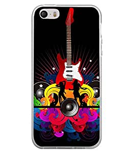 Music and Guitar 2D Hard Polycarbonate Designer Back Case Cover for Apple iPhone 4