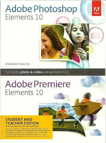 Adobe Photoshop Elements and Premiere Elements 10 Bundle, Student and Teacher Edition (PC/Mac)