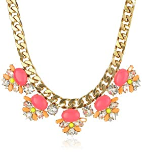 """Juicy Couture Gemstone Statement Necklace, 16.5"""""""