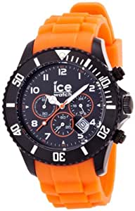 Ice-Watch Chronograph Black and Orange Big Silicone Watch CH.BO.B.S