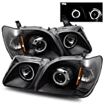 LEXUS LX470 98-07 PROJECTOR HEADLIGHT HALO W/O CCFL BAR BLACK CLEAR AMBER CCFL