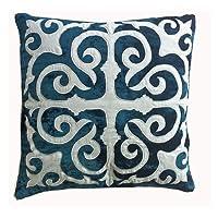 Ultra-Snob Casablanca Velvet Small Square Crushed Velvet Cushion Cover Teal