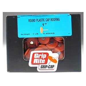 Grip Rite 1prcap1 1 Lb Electro Galvanized Round Plastic