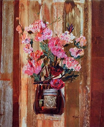 The Perfect Effect Canvas Of Oil Painting 'Contemporary Artwork Abstract Painting Of Flowers' ,size: 10x12 Inch / 25x31 Cm ,this High Quality Art Decorative Canvas Prints Is Fit For Garage Gallery Art And Home Decoration And (Cheetah Print Lip Tattoos)