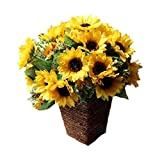 Artificial Sunflower Bouquet Silk Flower Home Decoration(Basket not included)
