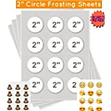 Kopykake Frosting Sheets 24 sheets per pack Best Edible Paper (2 ROUND FROSTING SHEETS 2.13)