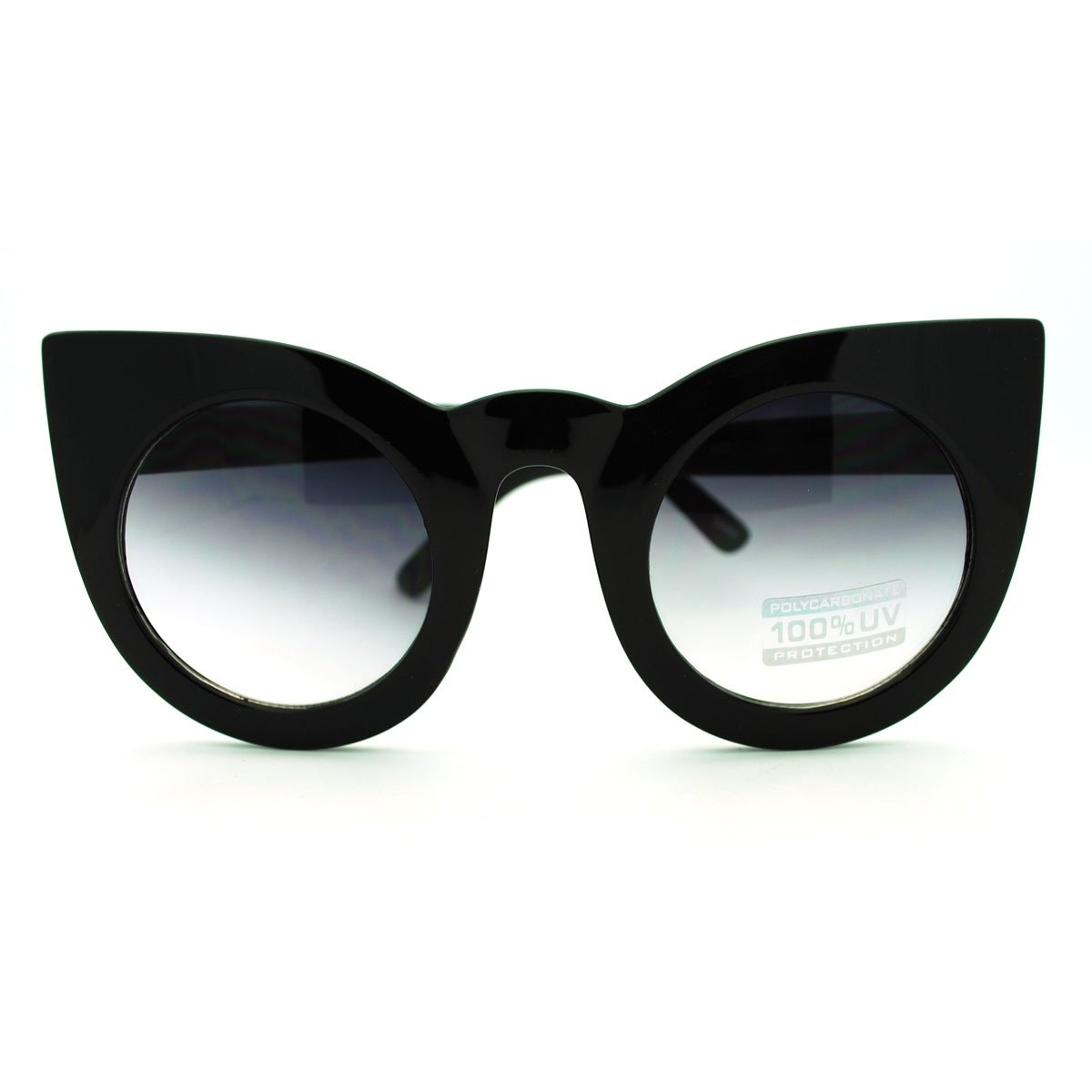 Oversized Round Cateye Sunglasses Womens Vintage Retro Eyewear 1