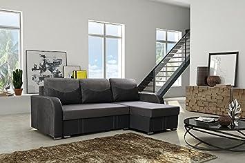Couch Couchgarnitur Sofa Polsterecke AROSA mit FEDERKERN und Schlaffunktion