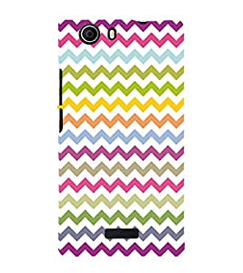 Colorful Zig Zag Pattern 3D Hard Polycarbonate Designer Back Case Cover for Micromax Canvas Nitro 2 E311 :: Micromax Canvas Nitro 2 (2nd Gen)