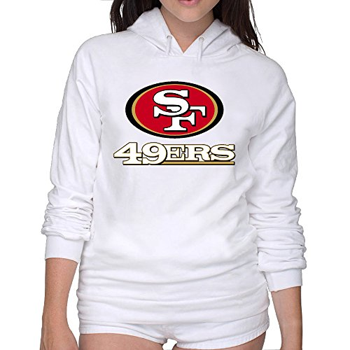 Lightweight 80's Juniors Lady 49ers Logo Large Hooded Sweatshirt (Yeti Cooler Emblem compare prices)