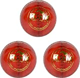 KDM Tiger Leather Ball, Pack of 3 (Red)