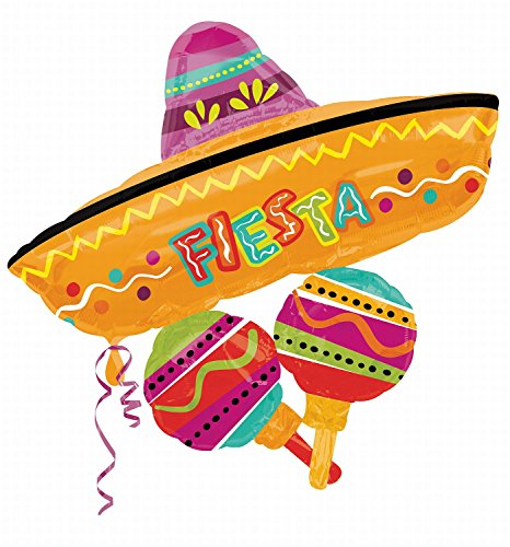 Anagram International 2661901 Fiesta Fun Cluster Shop Balloon Pack, 32""