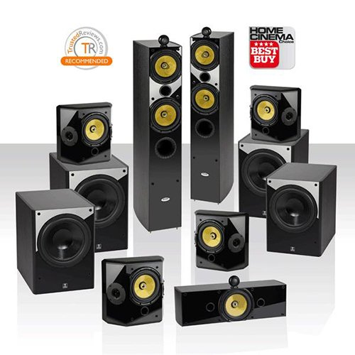 "Crystal Acoustics T2-7.4-Ul Ultimate 7.4 Home Theater System With Thx® Ultra2 Fronts & 4 Thx Ultra2 12"" Subwoofers"