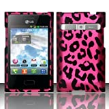 Pink Leopard Hard Snap On Case Cover Faceplate Protector for LG Optimus Logic L35g Straight Talk + Free Texi Gift Box