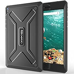 Google Nexus 9 Case - Poetic Google Nexus 9 Case [Revolution Series] - [Heavy Duty] [Dual Layer] [Screen Shield] Protective Hybrid Case with Built-In Screen Protector for Google Nexus 9 Black