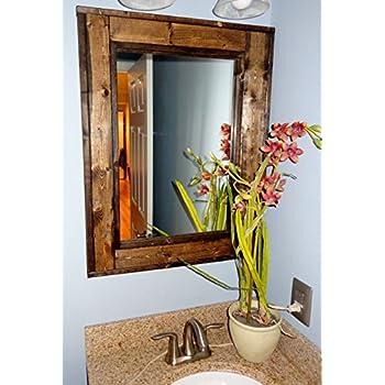 Bathroom Vanity Window Mirror - Reclaimed Wood Mirror - Large Wall Mirror - Rustic Modern Home - Home Decor - Mirror - Housewares - Woodwork