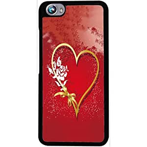 Casotec Love Rose Design 2D Hard Back Case Cover for Micromax Canvas Fire 4 A107 - Black