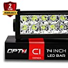 OPT7® C1 14 Off-Road LED Light Bar - 72w Spot Auxiliary Lamp