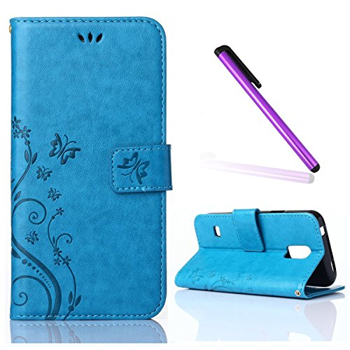 Galaxy S5 Case,Samsung Galaxy S5 Case,EMAXELER Stylish Wallet Case [Kickstand Flip Case][Credit Cards Slot][Cash Pockets]Cool PU Leather Flip Wallet Case with Stand For Samsung Galaxy S5--Blue (Galaxy S5 Cool Wallet Case compare prices)