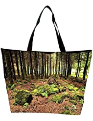 Snoogg Abstract Rocks In Forest Designer Waterproof Bag Made Of High Strength Nylon