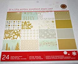 Martha Stewart Crafts 12 x 12in Golden Woodland Paper Pad 24 Sheets