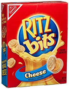 Ritz Bits Sandwich Crackers, Cheese, 7.5-Ounce Boxes (Pack of 6)