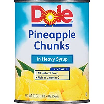 Dole Pineapple Chunks in Heavy Syrup, 20 oz (1 lb 4 oz) 567 g from Dole