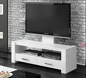tv lowboard kommode unterschrank wei hochglanz mit tv halterung. Black Bedroom Furniture Sets. Home Design Ideas