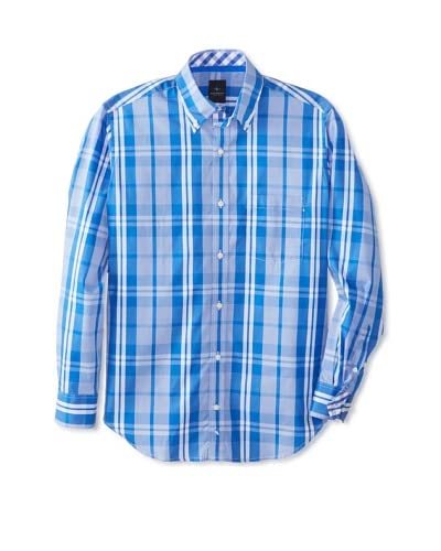 TailorByrd Men's Thunderbird Long Sleeve Plaid Traditional Sportshirt