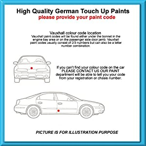 Vauxhall High Quality German Car Touch Up Paint 30Ml 163 * Silver Lightning Met From 03-11 from MACPACARPARTS