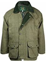 Country Wear New Mens Derby Wool Branded British Made Quilted Waterproof Breathable Tweed Jacket Coat Fishing Hunting Shooting Farming Outerwear