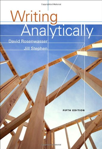 writing analytically pdf Writing analytically fifth edition david rosenwasser muhlenberg college jill stephen muhlenberg college dai hoc thai nguyen mung tam hoc lieu.