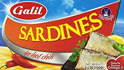 Galil Sardines in Hot Chili Sauce, 4.4 Ounce (Pack of 10) from Galil