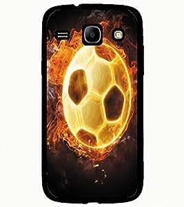 ColourCraft Flaming Football Design Back Case Cover for SAMSUNG GALAXY CORE I8262 / I8260