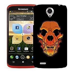 Snoogg Skull Of A Monster Designer Protective Back Case Cover For LENOVO S820
