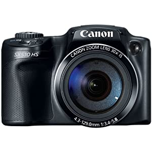 Canon PowerShot SX510 HS 12.1 MP CMOS Digital Camera with 30x Optical Zoom and 1080p Full-HD Video