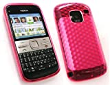 FLASH SUPERSTORE NOKIA E5 HEXAGON PATTERN GEL SKIN COVER/CASE HOT PINK