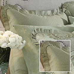 Croscill White Label Jade European Sham