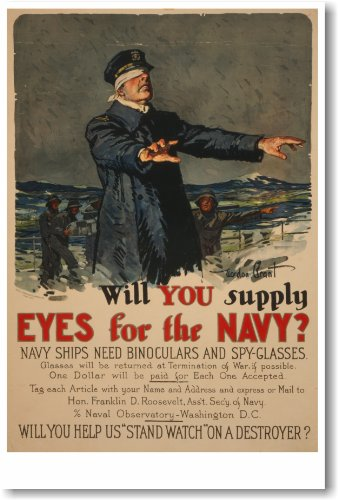 Will You Supply Eyes For The Navy? - New Vintage Repoduction Poster
