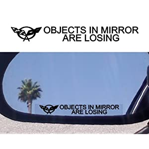 Corvette Stingray  on Mirror Decals For Corvette C4 C5 C6 Z06 Ls6 Z51 Ls1 Stingray Targa