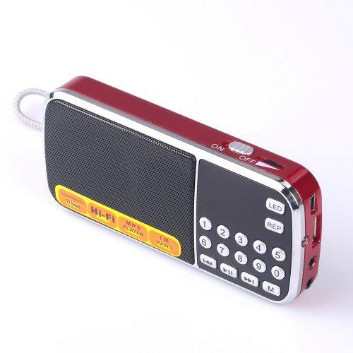 Mfine Portable Mini Usb Fm Radio Speaker Music Player Sd/Tf Card For Pc Ipod Phone (088 Red)
